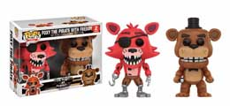 FIVE NIGHTS AT FREDDY'S PACK 2 POP! GAMES VINYL FIGURINES FOXY THE PIRATE & FREDDY