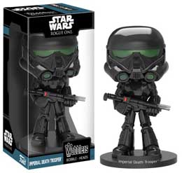 FIGURINE STAR WARS ROGUE ONE WACKY WOBBLER BOBBLE HEAD IMPERIAL DEATH TROOPER