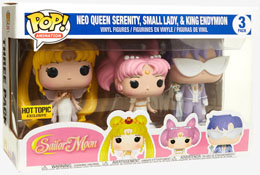 Photo du produit PACK 3 FUNKO POP SAILOR MOON QUEEN SERENITY, SMALL LADY, KING ENDYMION EXCLUSIVE
