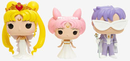 Photo du produit PACK 3 FUNKO POP SAILOR MOON QUEEN SERENITY, SMALL LADY, KING ENDYMION EXCLUSIVE Photo 1