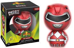 POWER RANGERS DORBZ FIGURINE RED RANGER GITD