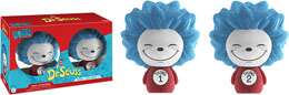 DR. SEUSS PACK 2 DORBZ VINYL FIGURINES THING 1 & THING 2 (FLOCKED)