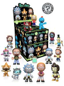 MYSTERY MINI RICK ET MORTY 12 FIGURINES + PRESENTOIR