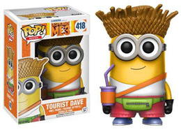 MOI, MOCHE ET MECHANT 3 FUNKO POP TOURIST DAVE 9 CM