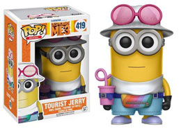 MOI, MOCHE ET MECHANT 3 FUNKO POP TOURIST JERRY 9 CM