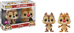 SDCC 2017 FUNKO POP FLOCKED CHIP & DALE EXCLUSIVE - DISNEY