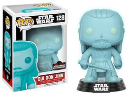 STAR WARS CELEBRATION FUNKO POP QUI-GON JINN HOLOGRAPHIC