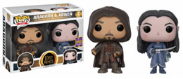 SDCC 2017 FUNKO POP LORD OF THE RINGS ARAGORN & ARWEN EXCLUSIVE