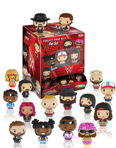 PACK 24 FIGURINES FUNKO PINT SIZE WWE WRESTLING + PRESENTOIR