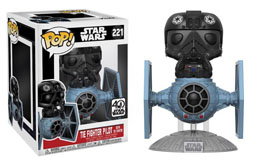 FUNKO POP STAR WARS TIE FIGHTER WITH TIE PILOT 15 CM