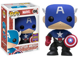 SDCC 2017 FUNKO POP CAPTAIN AMERICA BLACK & BLUE EXCLUSIVE