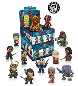 PACK DE 12 FIGURINES MYSTERY MINI MARVEL THOR RAGNAROK + PRESENTOIR