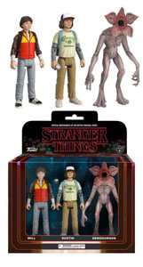 STRANGER THINGS REACTION PACK 3 FIGURINES DUSTIN, WILL & DEMOGORGON 14 CM