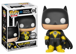 FUNKO POP YELLOW LANTERN BATMAN GITD EXCLUSIVE