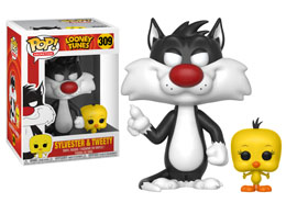 FIGURINE FUNKO POP LOONEY TUNES SYLVESTER & TWEETY