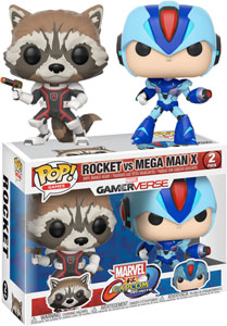 PACK 2 FUNKO POP MARVEL VS CAPCOM ROCKET VS MEGAMAN X