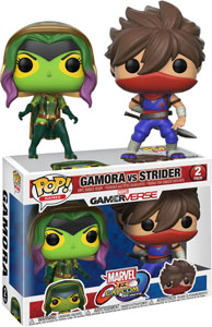 PACK 2 FUNKO POP MARVEL VS CAPCOM GAMORA VS STRIDER