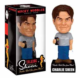 FIGURINES CHARLIE SHEEN SONORE FRICKIN ROCK STAR FROM MARS FUNKO WACKY WOBBLER