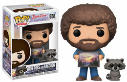 THE JOY OF PAINTING FUNKO POP BOB ROSS WITH RACCOON