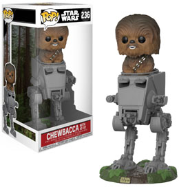 STAR WARS POP! DELUXE CHEWBACCA WITH AT-ST 10 CM