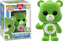 ECCC 2018 FUNKO POP CARE BEARS GOOD LUCK BEAR FLOCKED   - EMERALD CITY COMIC CON 2018