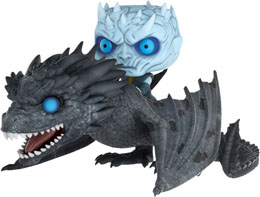 GAME OF THRONES POP! RIDES FIGURINE NIGHT KING & VISERION 15 CM
