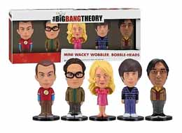 THE BIG BANG THEORY PACK FIGURINES WACKY WOBBLER BOBBLE HEAD