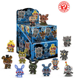 PACK DE 12 FIGURINES MYSTERY MINI FIVE NIGHTS AT FREDDY'S + PRESENTOIR