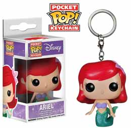 DISNEY PORTE-CLES POCKET POP! VINYL ARIEL