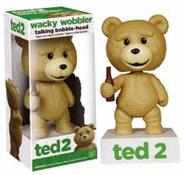 TED 2 WACKY WOBBLER BOBBLE HEAD ÉLECTRONIQUE TALKING TED