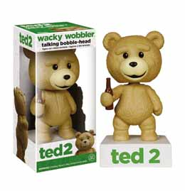 TED 2 WACKY WOBBLER BOBBLE HEAD ELECTRONIQUE TALKING TED R RATED