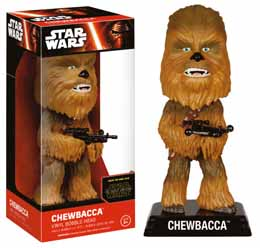 WACKY WOBBLER BOBBLE HEAD STAR WARS EPISODE VII CHEWBACCA