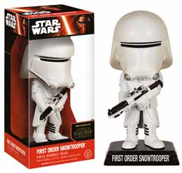 WACKY WOBBLER BOBBLE HEAD STAR WARS EPISODE VII FIRST ORDER SNOWTROOPER