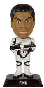 STAR WARS EPISODE VII WACKY WOBBLER BOBBLE HEAD FINN IN STORMTROOPER