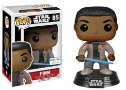 STAR WARS EPISODE VII FUNKO POP! BOBBLE HEAD FINN WITH LIGHTSABER