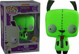 INVADER ZIM FUNKO POP! TELEVISION VINYL FIGURINE GIR GLOW IN THE DARK