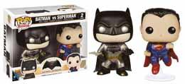 BATMAN V SUPERMAN FUNKO POP PACK 2 METALLIC BATMAN & SUPERMAN