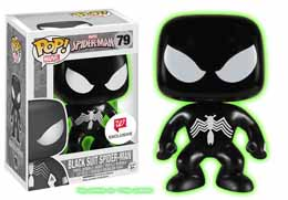 FUNKO POP BLACK SUIT SPIDER MAN VERSION EXCLUSIVE GLOW IN THE DARK