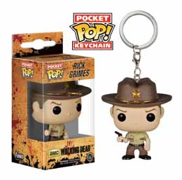 THE WALKING DEAD PORTE CLE RICK GRIMES POCKET POP! EDITION LIMITEE