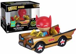 SDCC 2016 FUNKO 1966 GOLD BATMOBILE DORBZ RIDEZ EXCLUSIVE
