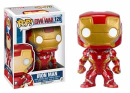 CAPTAIN AMERICA CIVIL WAR FUNKO POP! BOBBLE HEAD IRON MAN