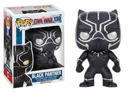 CAPTAIN AMERICA CIVIL WAR FUNKO POP! BOBBLE HEAD BLACK PANTHER