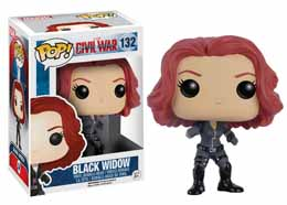 CAPTAIN AMERICA CIVIL WAR FUNKO POP! BOBBLE HEAD BLACK WIDOW