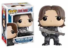 CAPTAIN AMERICA CIVIL WAR FUNKO POP! BOBBLE HEAD WINTER SOLDIER