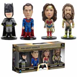 BATMAN V SUPERMAN MINI WACKY WOBBLERS BOBBLE HEADS PACK FIGURINES DC COMICS