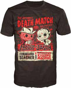FREDDY VS. JASON POP! TEES T-SHIRT DEATH MATCH