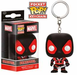 MARVEL COMICS PORTE-CLES POCKET POP! VINYL BLACK DEADPOOL