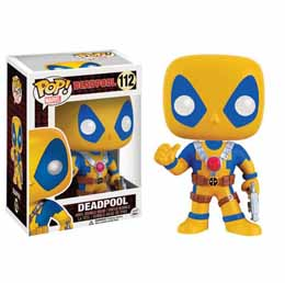 MARVEL COMICS FUNKO POP! BOBBLE HEAD DEADPOOL YELLOW COSTUME