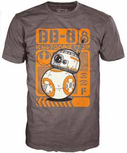 STAR WARS EPISODE VII POP! TEES T-SHIRT BB-8 ROLLING