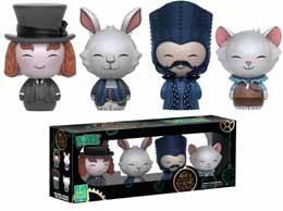 SDCC 2016 FUNKO DORBZ ALICE DE L'AUTRE COTE DU MIROIR PACK 4 FIGURINES EXCLUSIVE